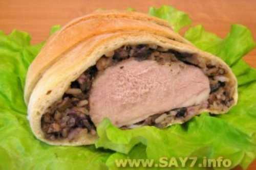 Мясо, запеченное в тесте