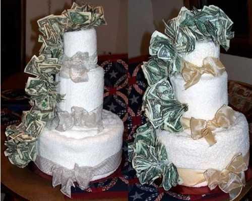 Изготовление торта из денег  своими руками