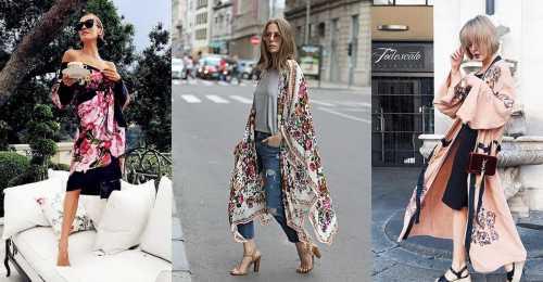 Кимоно: как и с чем носить