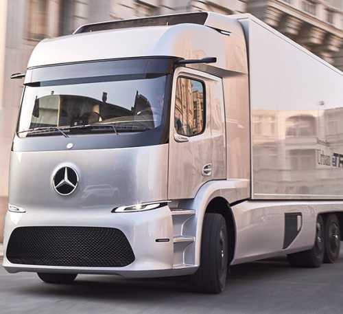 Прототип электрического грузовика Urban eTruck от Mercedes