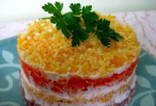 Мимоза салат рецепт
