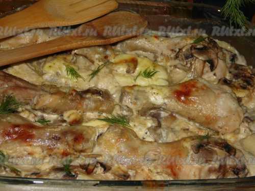 Курица с сыром: салаты и курица запеченная с сыром в духовке