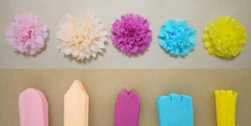Как сделать объёмные цветы из бумаги своими